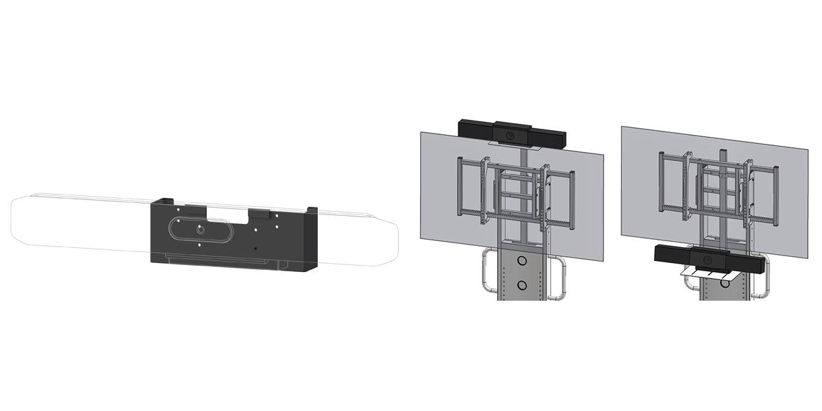 HAMILeX 業務用製品 共通オプション Poly社用 カメラスタンドアタッチメント 新発売